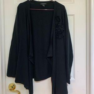 Open cardigan black